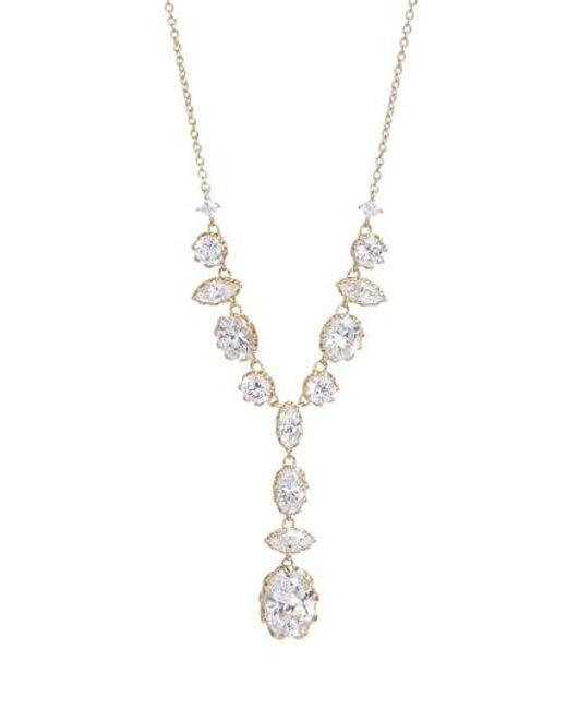 Nadri - Metallic Georgian Crystal Y-necklace - Lyst