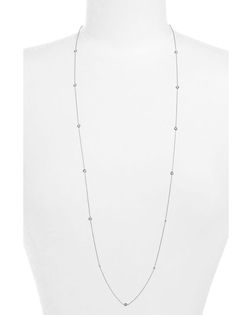 Roberto Coin - White Diamond Station Necklace - Lyst