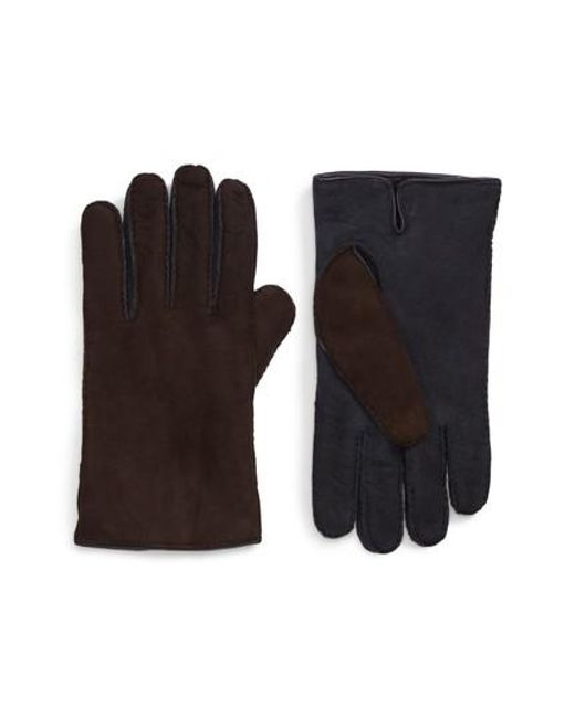 Hickey Freeman | Brown Leather Gloves | Lyst