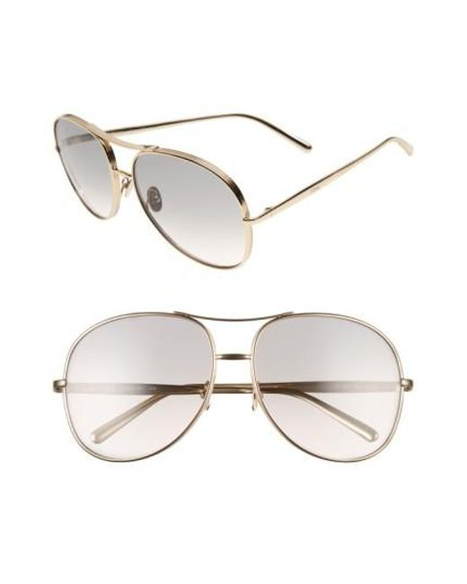 Chloé | Gray 61mm OverGold/ Light Grey | Lyst