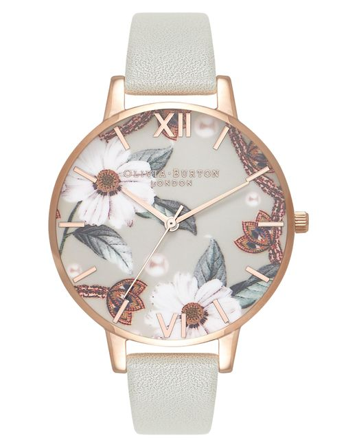 Olivia Burton - Multicolor Bejewelled Leather Strap Watch - Lyst