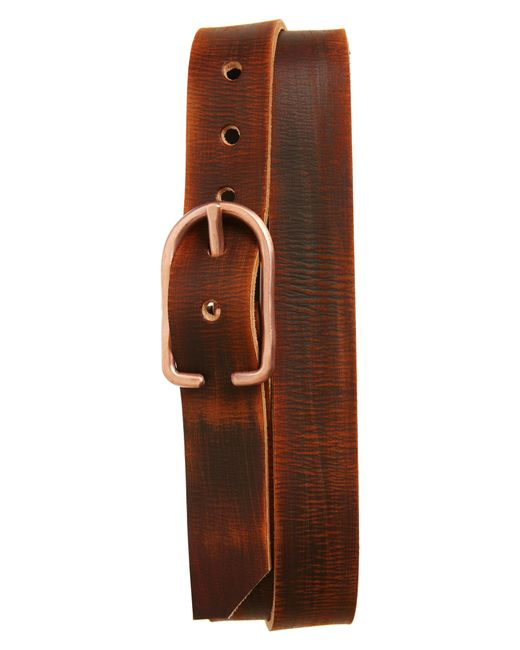Cause & Effect - Brown Distressed Leather Belt for Men - Lyst