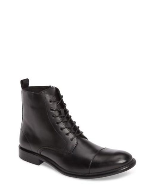 Kenneth Cole Reaction | Black Kenneth Cole Reaction Cap Toe Boot for Men | Lyst