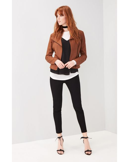 Andrew Marc - Brown Marc New York By Felix Stand Collar Leather Jacket - Lyst