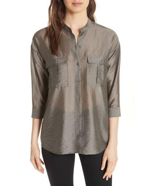 Joie - Gray Lidelle Tie Front Tunic Top - Lyst