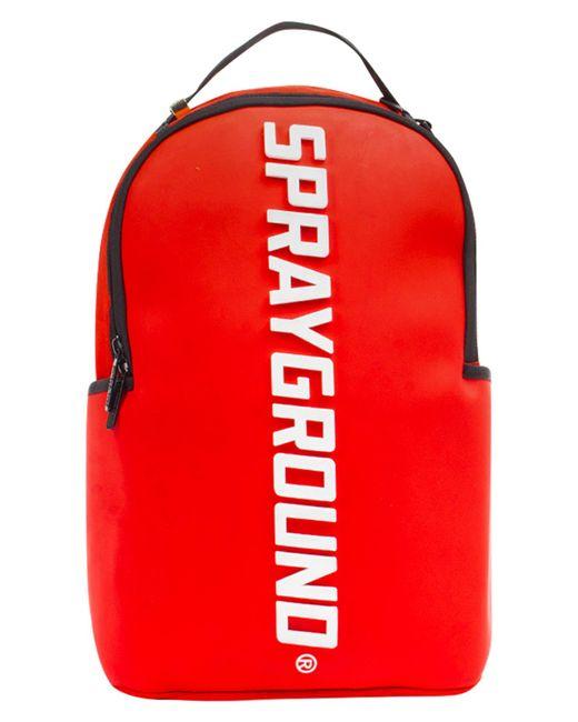 Sprayground - Red Rubber Logo Backpack for Men - Lyst