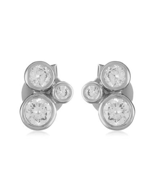 Melinda Maria | Metallic Jasmine Stud Earrings | Lyst