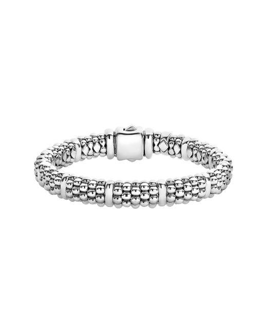 Lagos - Metallic Oval Rope Caviar Bracelet - Lyst