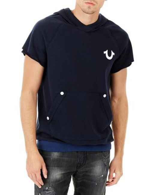 True Religion - Blue Pullover for Men - Lyst