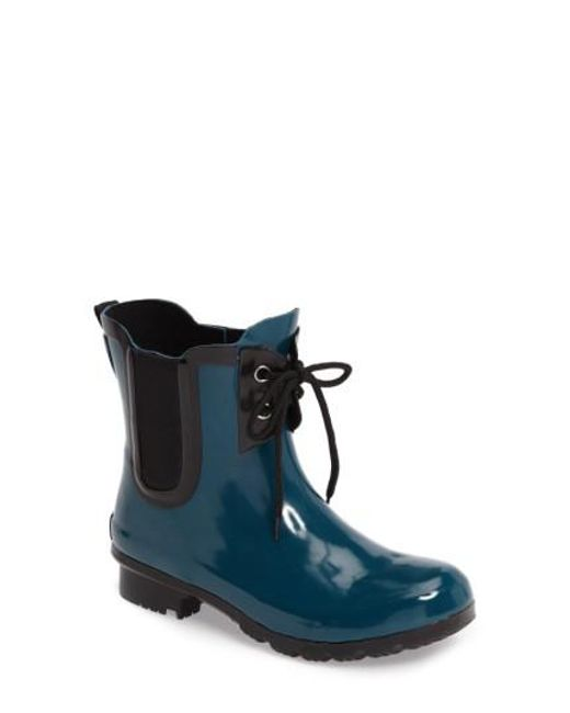 Roma | Blue Waterproof Chelsea Rain Boot | Lyst