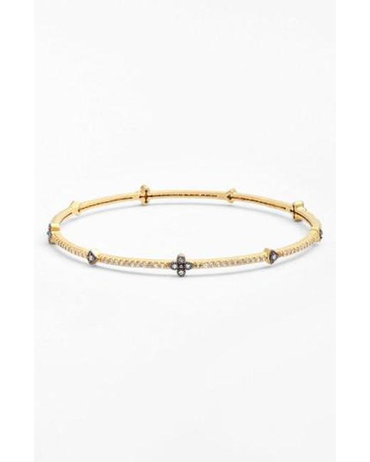 Freida Rothman - Metallic Clover Station Bangle - Lyst