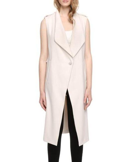 SOIA & KYO - Multicolor Longline Draped Vest - Lyst