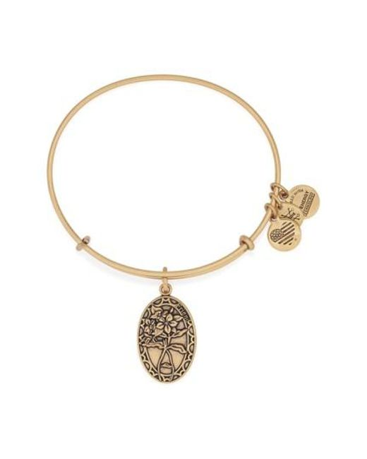 ALEX AND ANI | Metallic 'i Love You Friend' Expandable Wire Bangle | Lyst