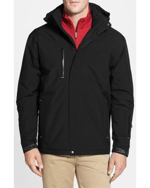 Cutter & Buck - Black Weathertec Sanders Jacket for Men - Lyst