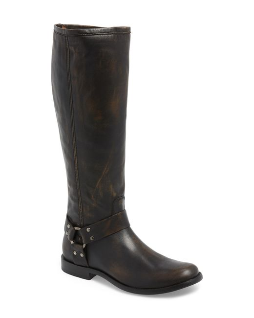 Frye - Brown Phillip Harness Tall Boot - Lyst
