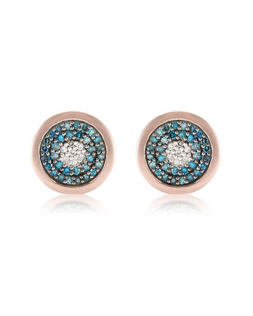 Monica Vinader - Blue Evil Eye Stud Diamond Earrings - Lyst