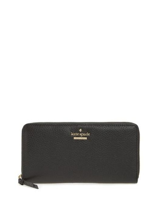 Kate Spade | Black Jackson Street Lacey Leather Wallet | Lyst