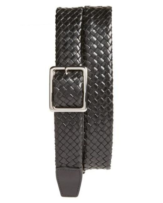 Cole Haan - Black Woven Leather Belt for Men - Lyst