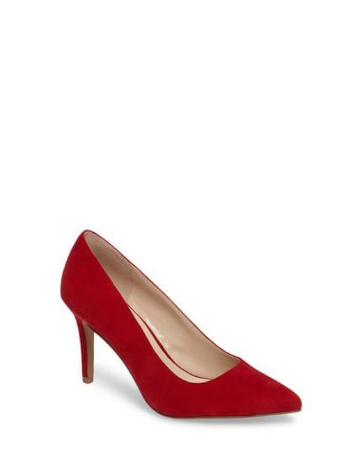 Chinese Laundry | Red Ruthy Pointy Toe Pump | Lyst