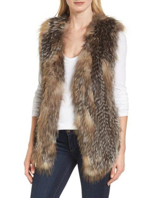 La Fiorentina - Multicolor Genuine Fox Fur Vest - Lyst