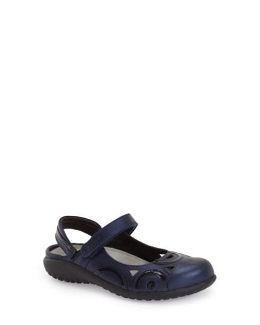 Naot | Blue Rongo Leather Slip-On Flats | Lyst