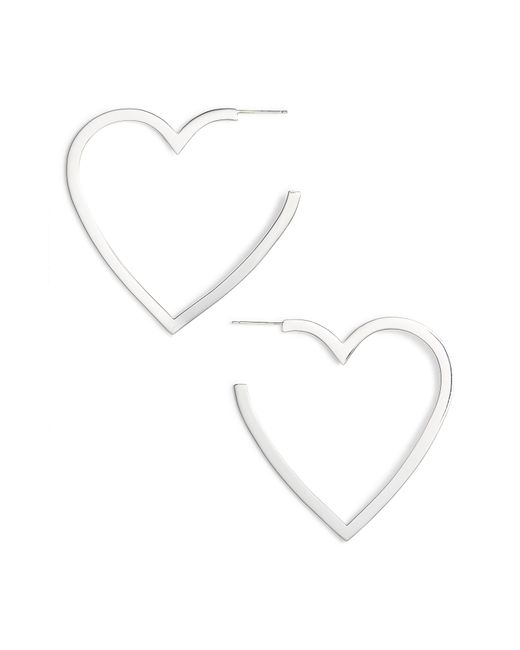 Jennifer Zeuner - Metallic Larissa Medium Open Heart Earrings - Lyst