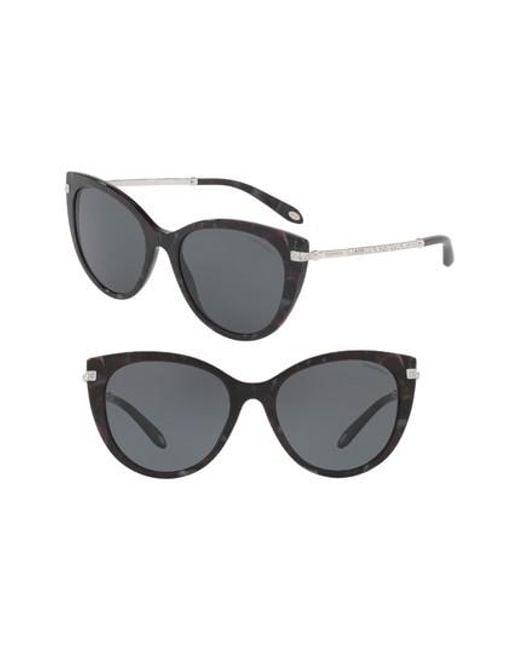 65add481080b Lyst - Tiffany   Co 55mm Gradient Cat Eye Sunglasses in Gray