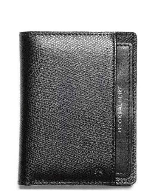 Hook + Albert | Black Leather Bifold Wallet for Men | Lyst