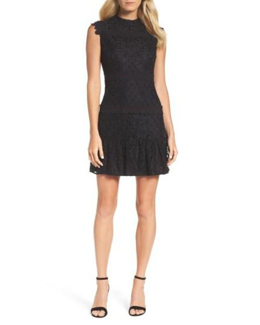 Julia Jordan - Black Lace Sheath Dress - Lyst