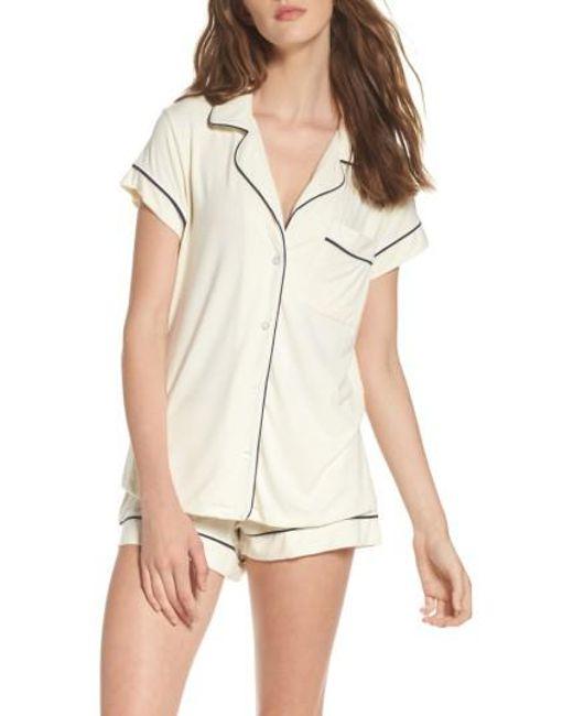 Eberjey - White 'gisele' Shorty Pajamas - Lyst