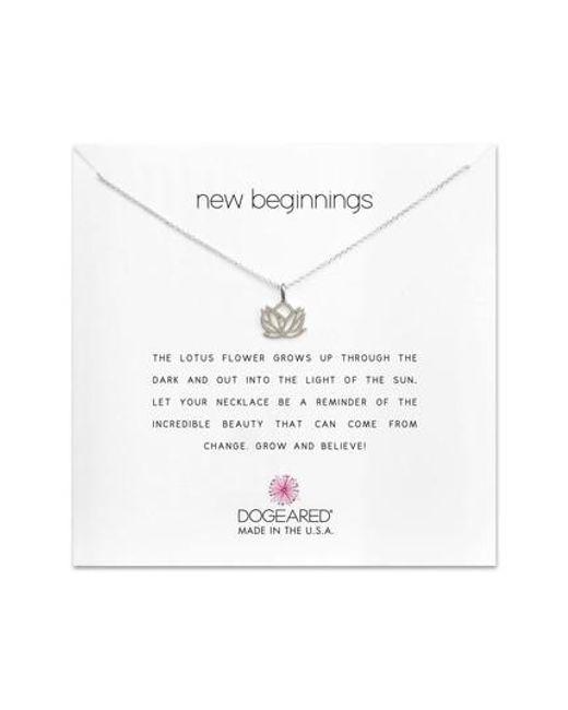 Dogeared - Metallic Lotus Reminder Pendant Necklace - Lyst