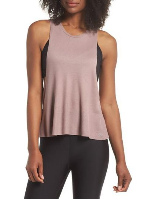 Alo Yoga - Pink Flow Tank Thermal - Lyst