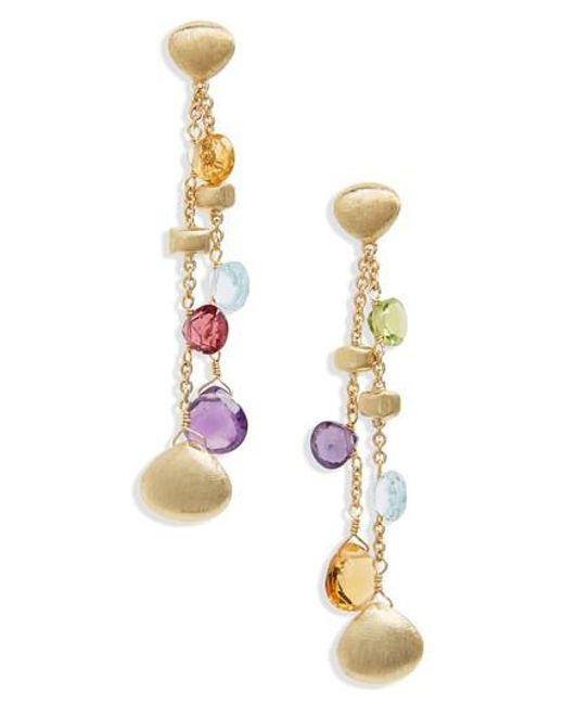 Marco Bicego   Metallic Semiprecious Stone Drop Earrings   Lyst