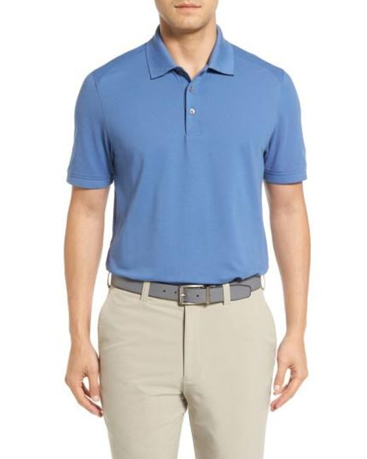 Cutter & Buck | Blue Advantage Golf Polo for Men | Lyst