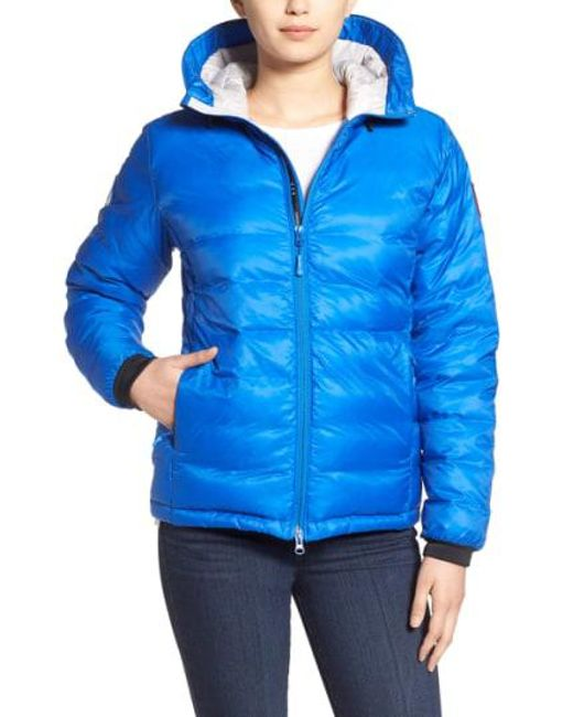 Canada Goose - 'pbi Camp' Packable Hooded Down Jacket, Blue - Lyst