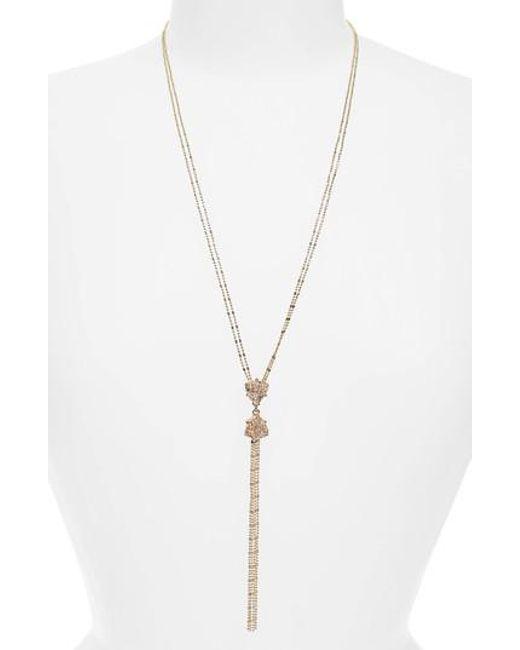 Panacea - Metallic Y-necklace - Lyst