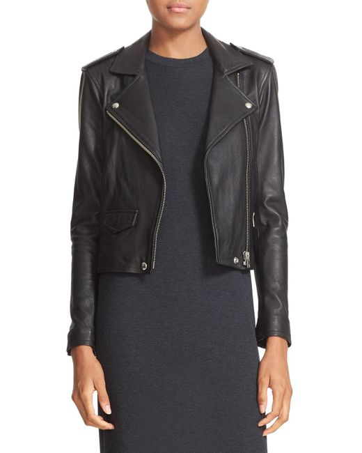 IRO - Black 'ashville' Lambskin Leather Moto Jacket - Lyst