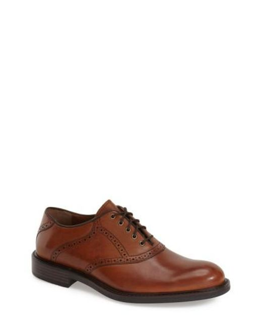 Johnston & Murphy - Brown 'tabor' Saddle Shoe for Men - Lyst