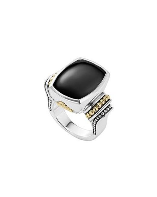Lagos   Metallic 'caviar Color' Large Semiprecious Stone Ring   Lyst