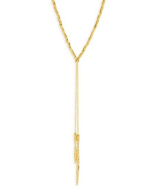 Gorjana | Metallic Laguna Adjustable Lariat Necklace | Lyst