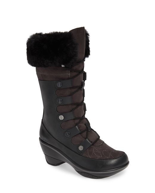 Jambu - Black Cruiser Faux Fur Trim Boot - Lyst