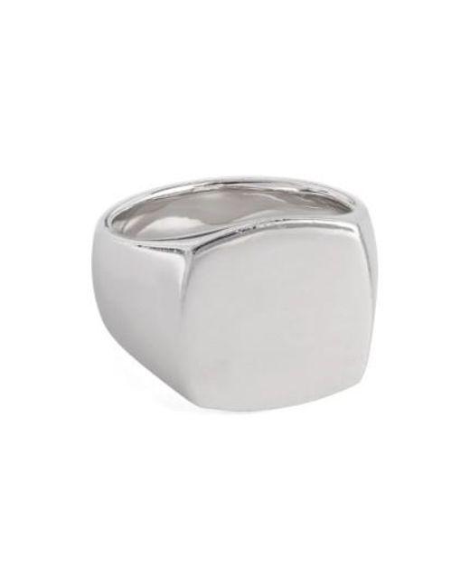 Tom Wood | Metallic Polished Cushion Ring | Lyst