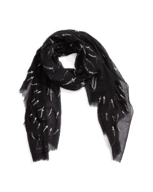 Rag & Bone - Natural Embroidered Dagger Scarf - Lyst