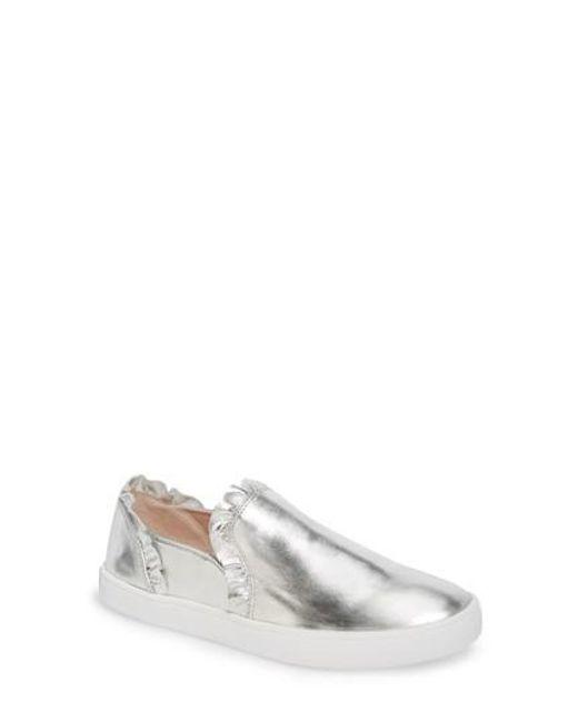Kate Spade   Metallic Lilly Ruffle Slip-on Sneaker   Lyst