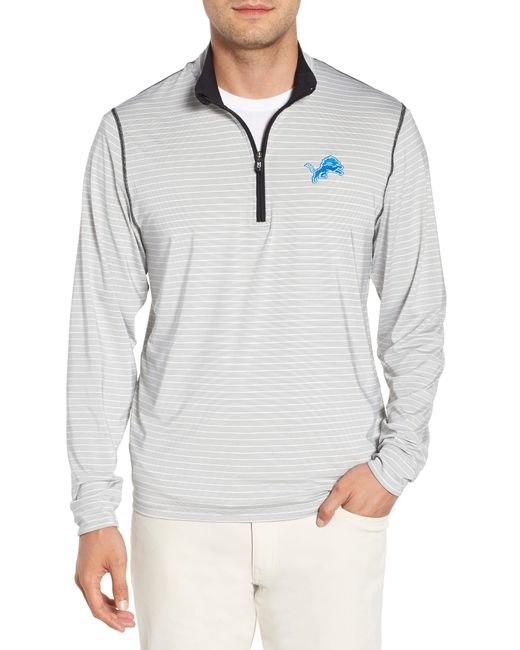 Cutter & Buck - Gray Detroit Lions - Meridian Half Zip Pullover for Men - Lyst
