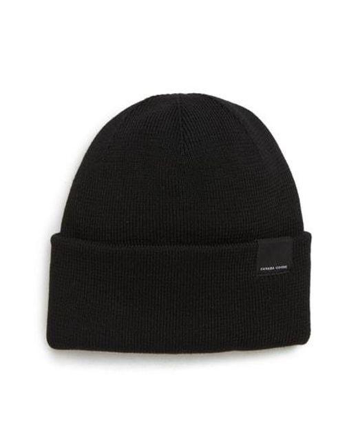 9ce84467d60 Lyst - Canada Goose Classic Merino Wool Beanie in Black