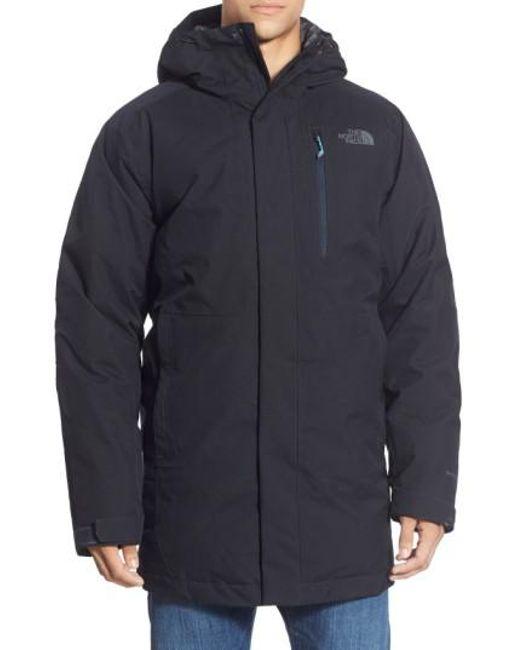 The North Face | Black 'mount Elbert' Hooded Waterproof Parka for Men | Lyst