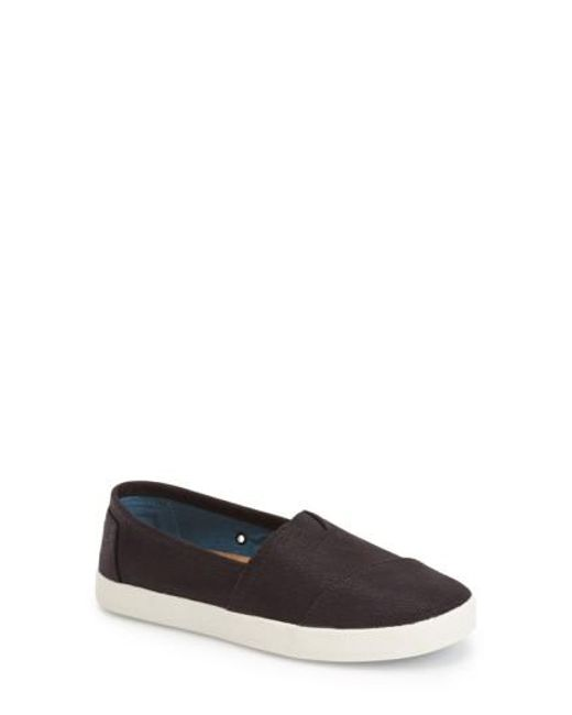 TOMS | Black 'Avalon' Slip-On | Lyst