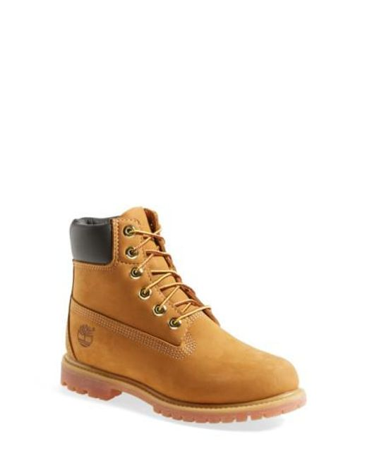 Timberland | Natural '6 Inch Premium' Waterproof Boot | Lyst