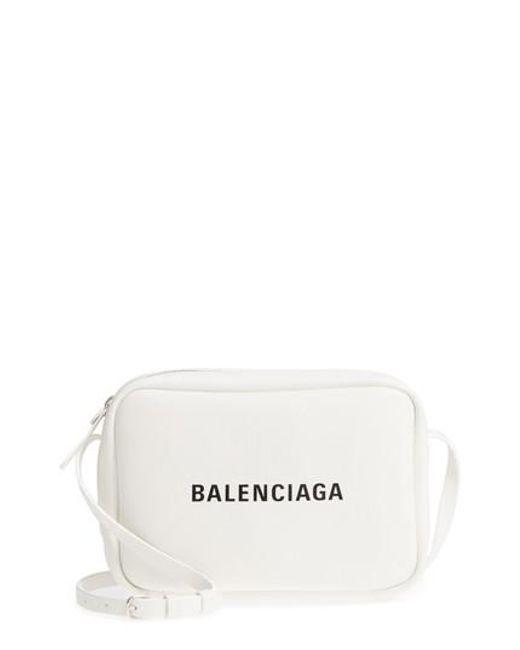 Balenciaga - White Small Everyday Calfskin Leather Camera Bag - Lyst